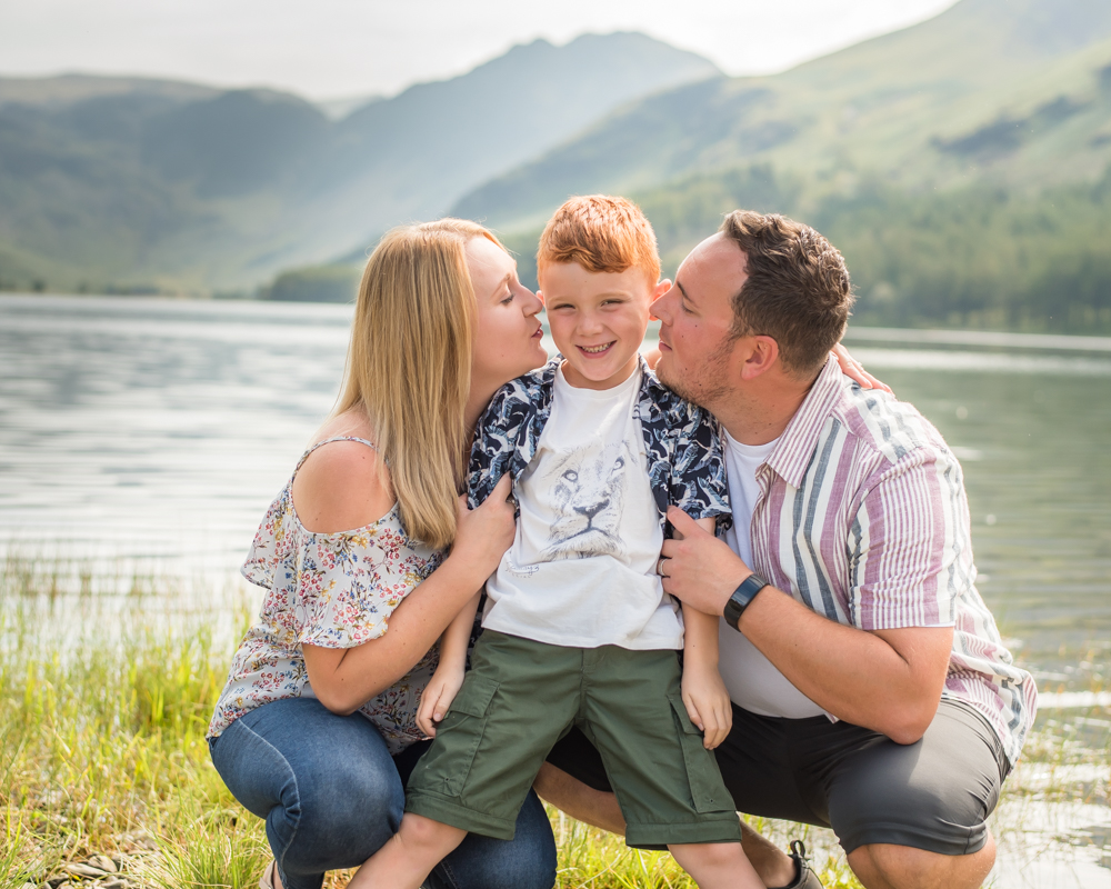Kisses from Mum and Dad, Buttermere Lake portraits
