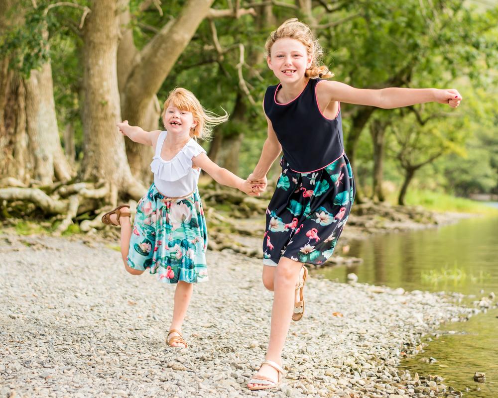 Running sisters, newborn photographer Workington