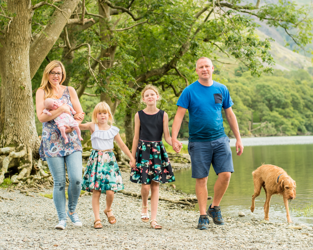 Family walking with the dog, Buttermere family portraits