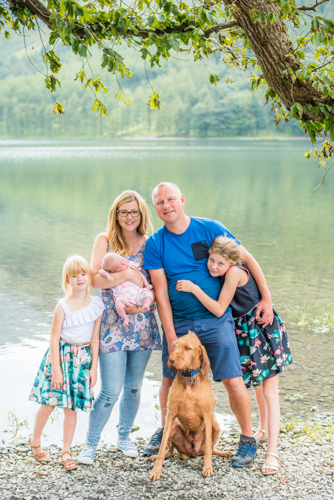 Cuddles by the Lake, family photographers Cumbria