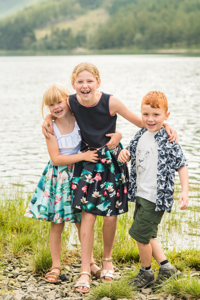 Laughing by the lake, Buttermere family photographs