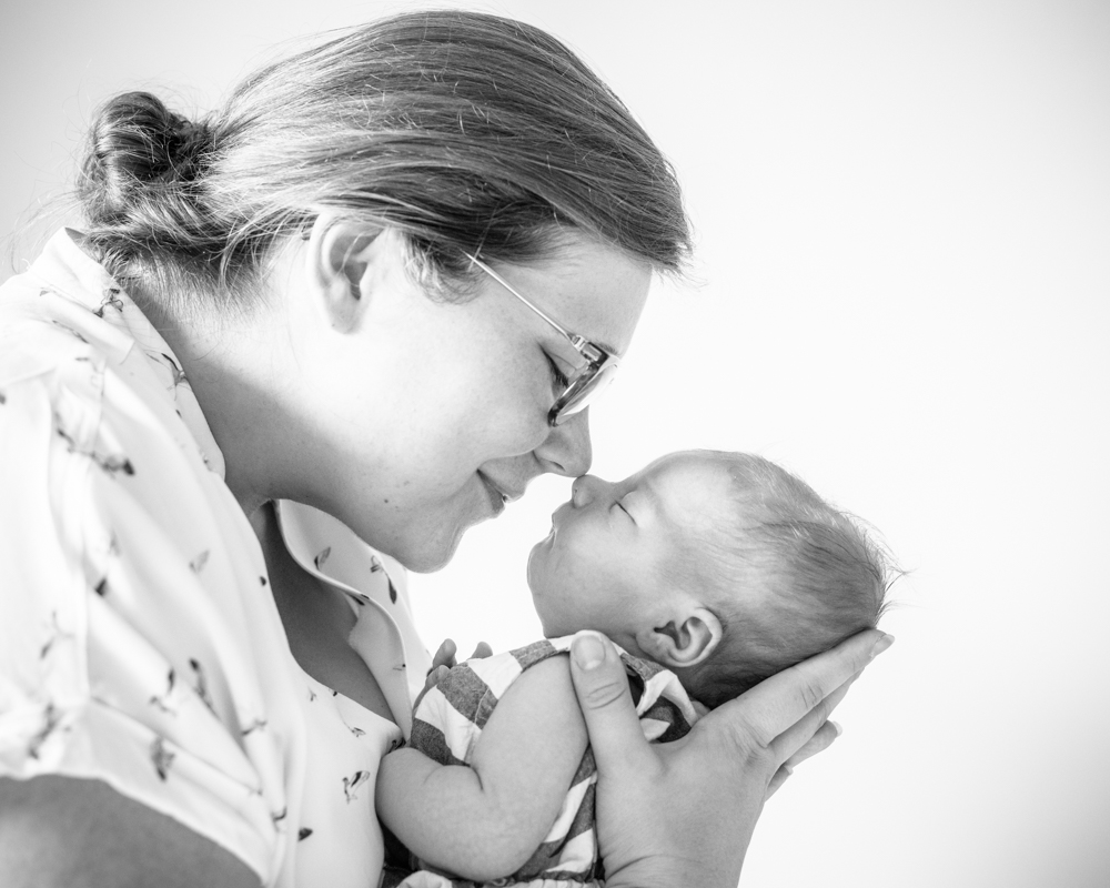 Mum and baby nose to nose - baby portraits Aspatria