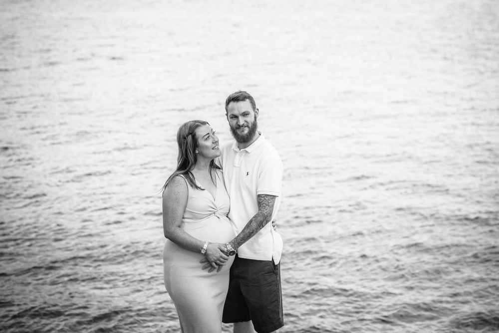 Happy couple by Windermere lake, Bowness family photographers