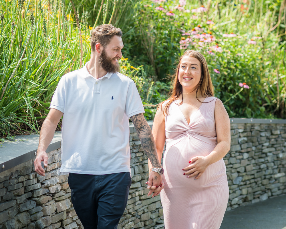Walking together, maternity photographer Workington