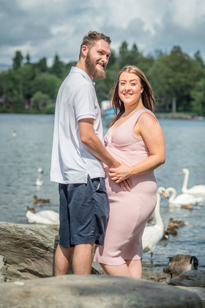 Swans watching on, maternity photographers Cumbria