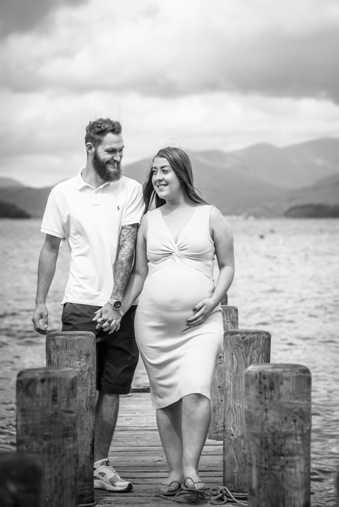 Walking with her boyfriend, Windermere family photographers