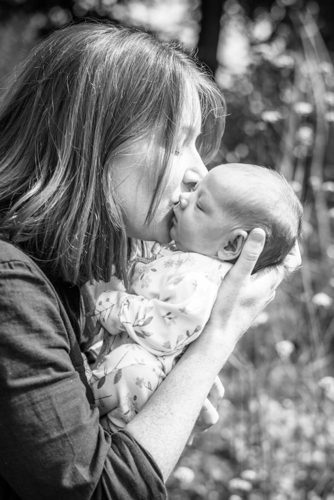 Kisses from Mama,  family portraits Aspatria newborn photographers