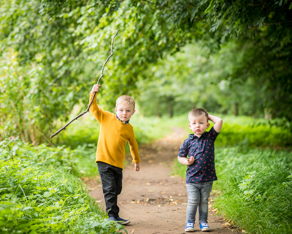 Boys and sticks, baby portraits Wigton