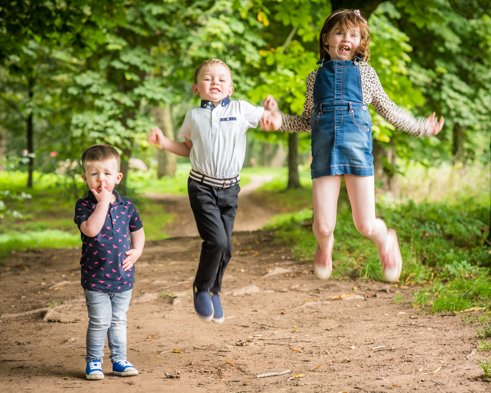 Jumping family, kids photographers Carlisle