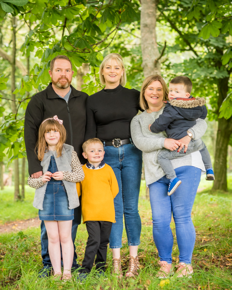 Full family cuddle, Carlisle family photographers