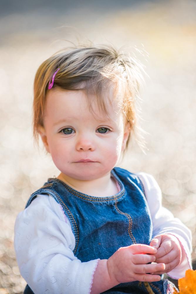 Rowan in the sunshine, baby portraits Cockermouth