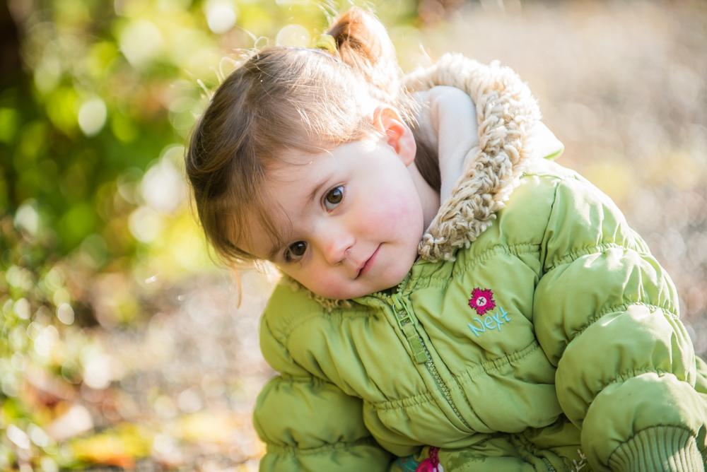 Autumn sunlight on Jessie, baby portraits Keswick
