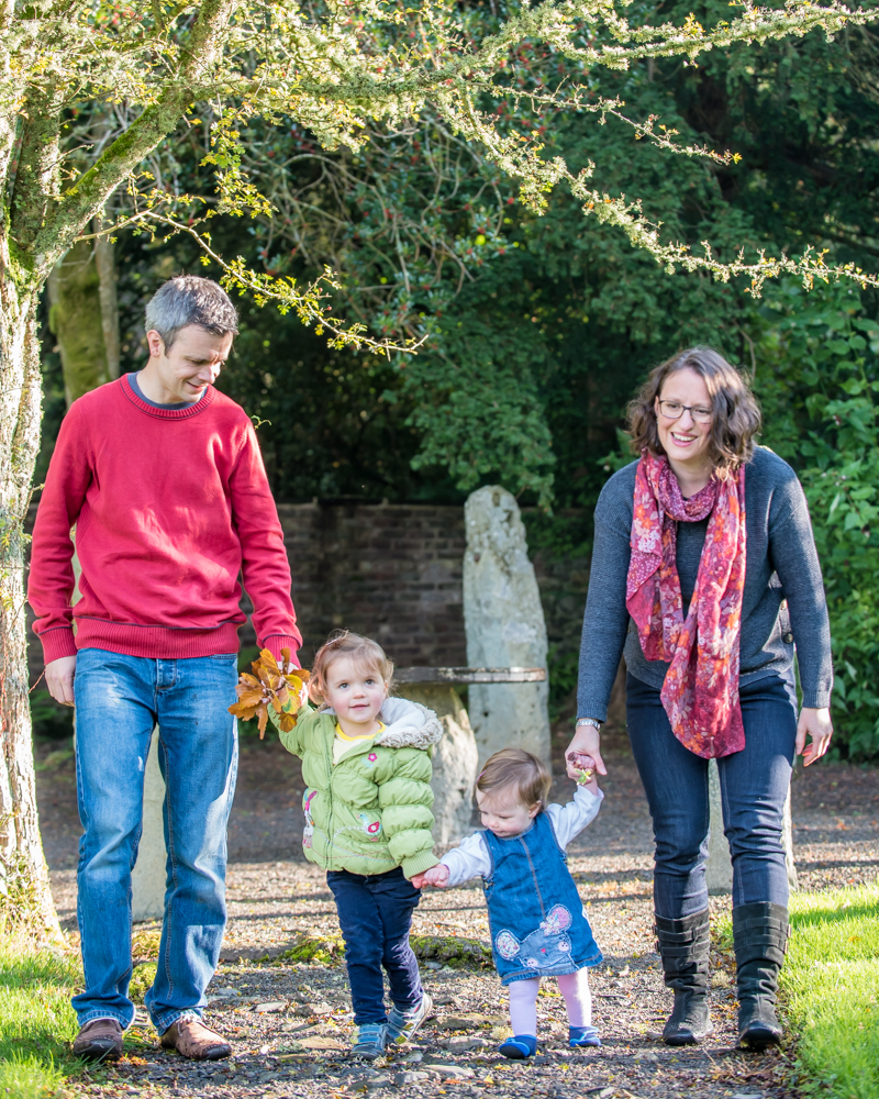 Family walking together, Mirehouse Keswick