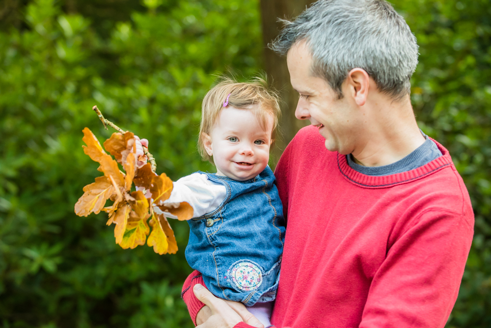 Rowan and her leaves, Mirehouse family photos