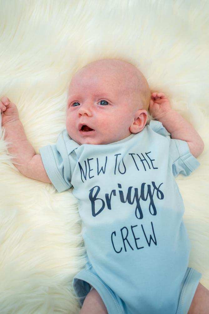 Newborn baby Freddie, baby portraits Sheffield
