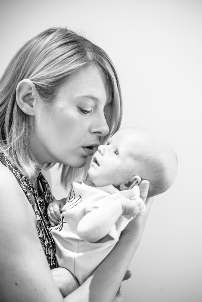 Kisses from Mama, newborn photographer Aspatria