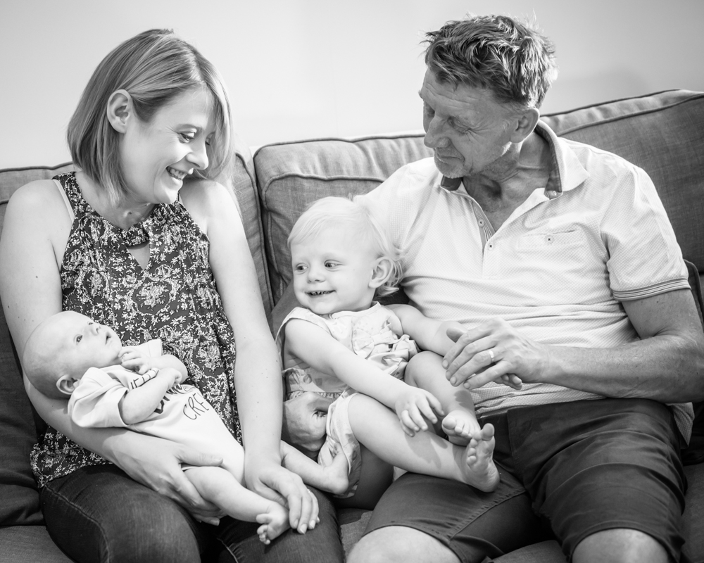 Natural family newborn portrait at home in Sheffield