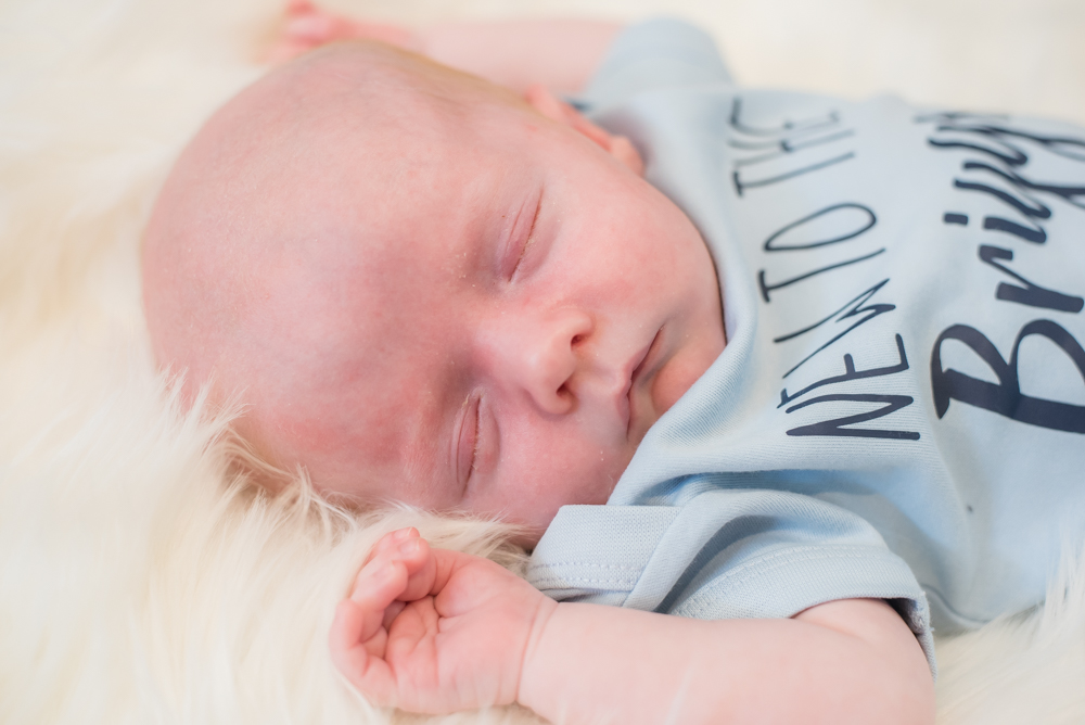 Sleepy newborn Freddie, Cockermouth baby photographer