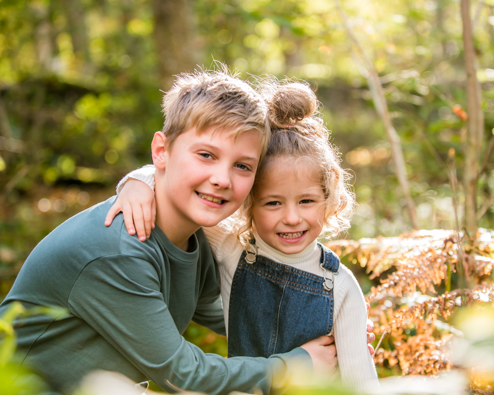 Sunshine in the woods, Lake District family photographers