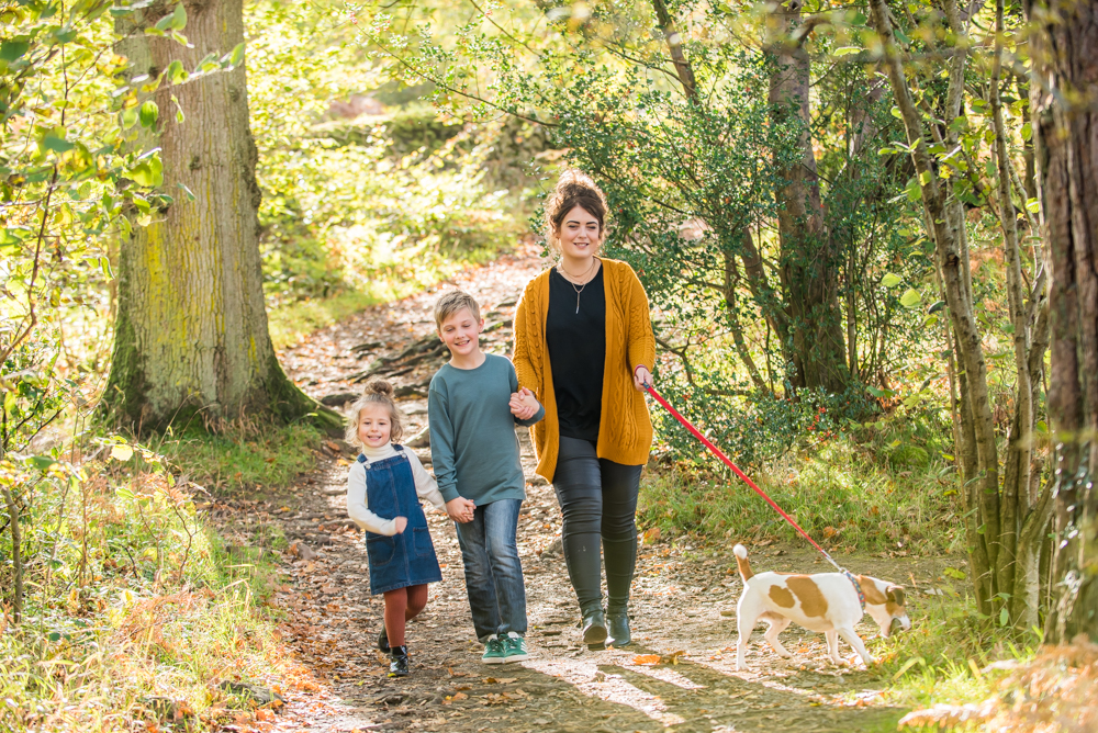 Walking with the dog, Lake District family photographers
