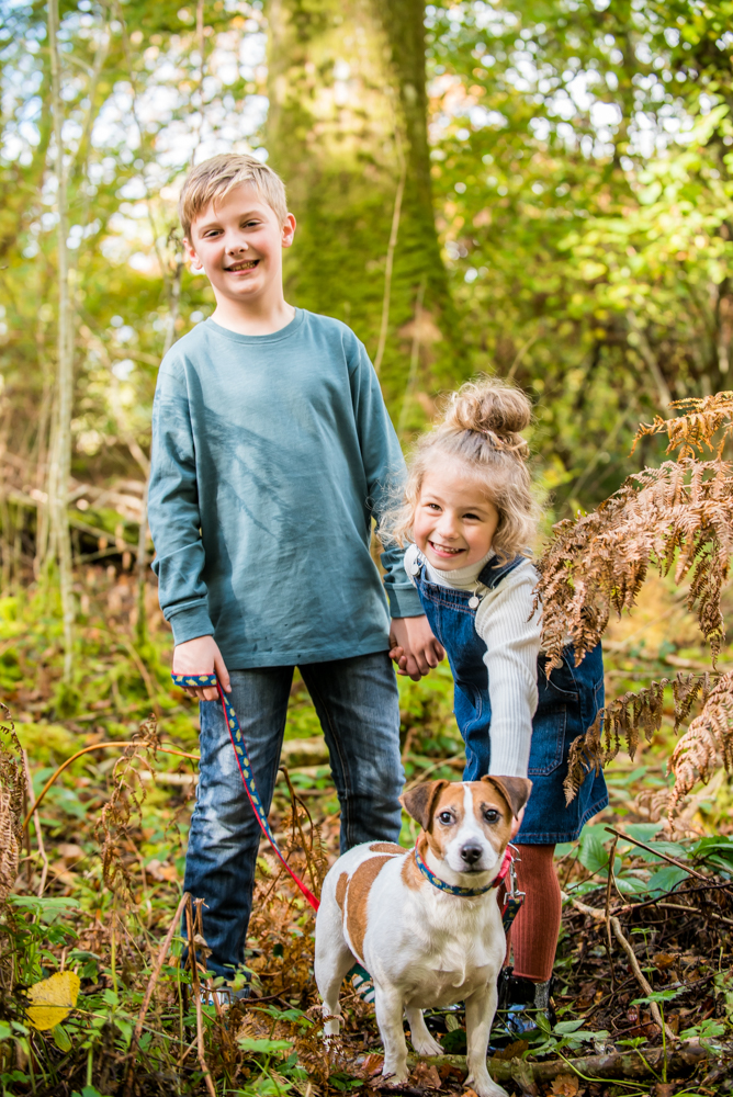 Siblings and Paddy the dog, Lake District family photographers
