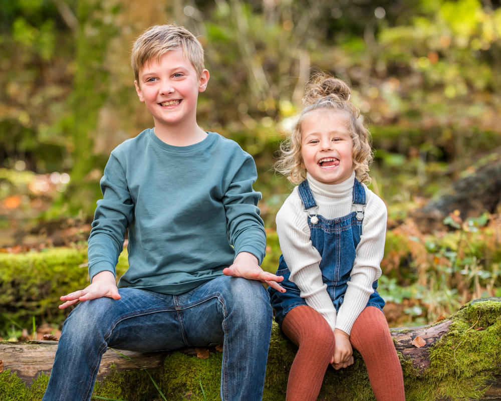 Laughing siblings, Lake District family photographers