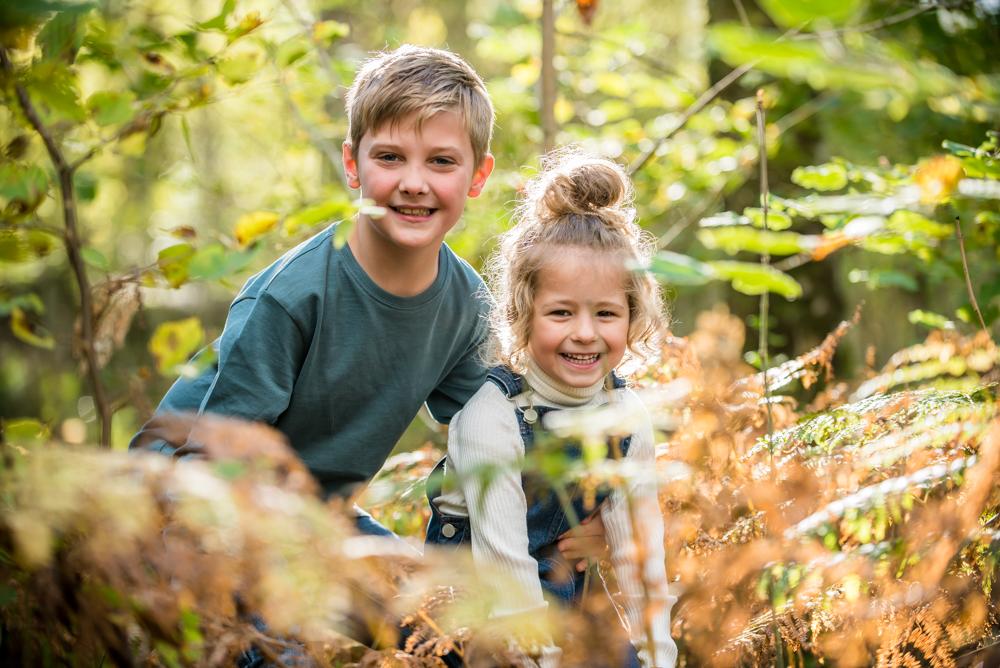Hiding in Autumnal bracken, Lake District family photographers