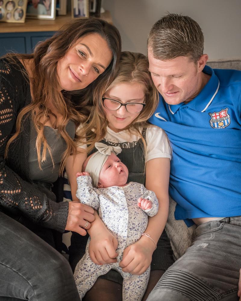 Full family photo, Cockermouth baby photographers
