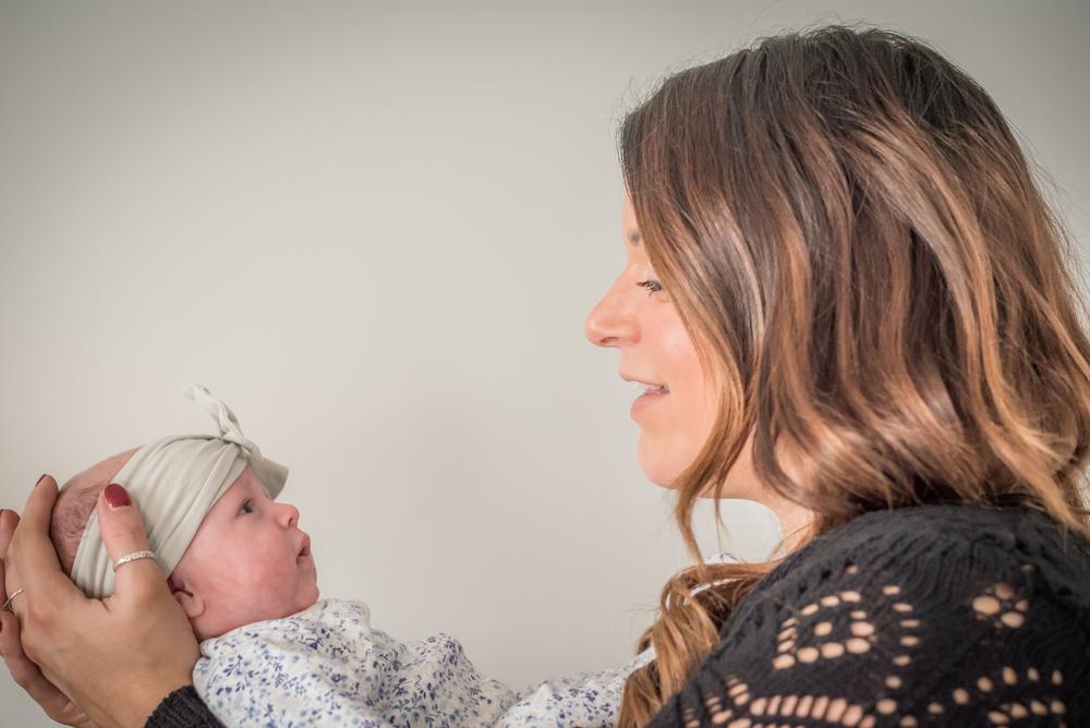Looking at Mum, baby photographer Carlisle
