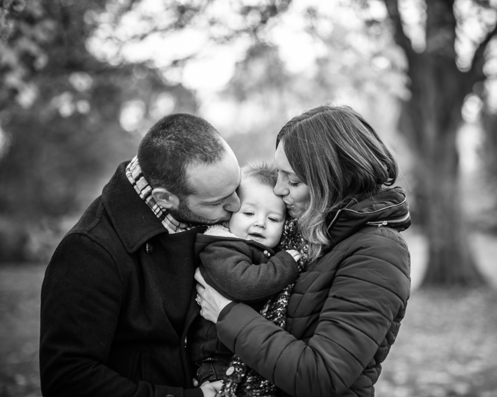 Black and white family portraits, Carlisle baby photographers