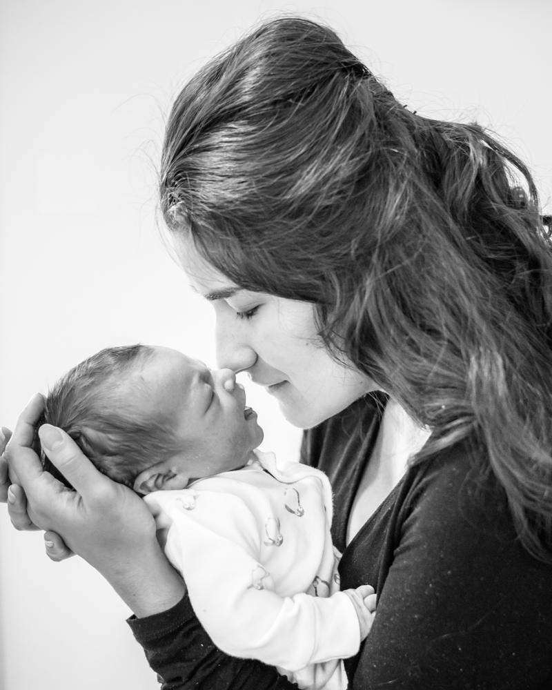 Mum nose to nose with baby, Carlisle photographers