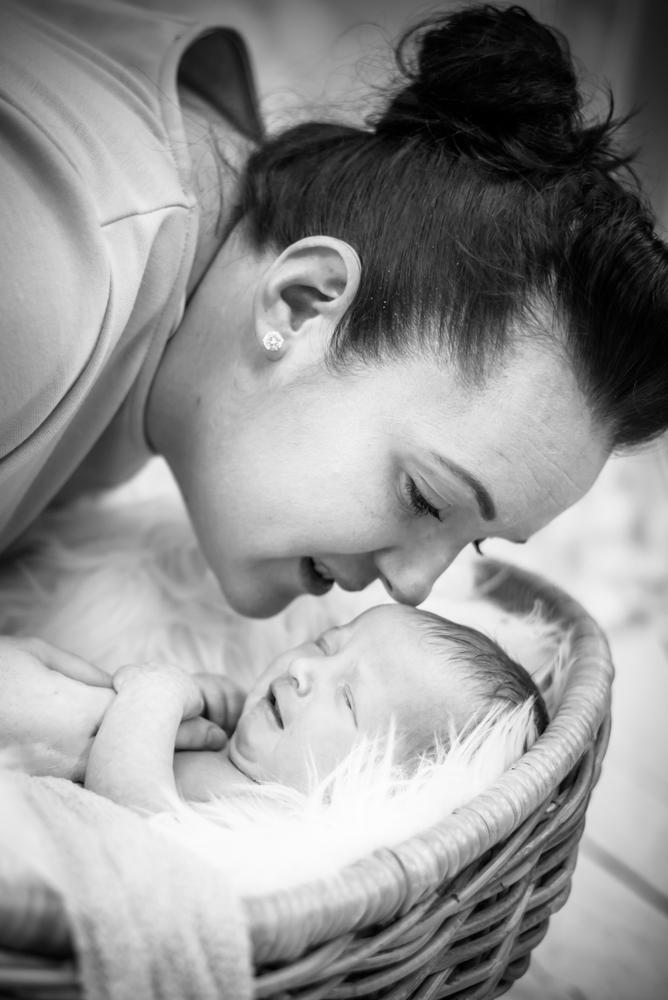 Mum snuggling baby, baby photographers Wigton