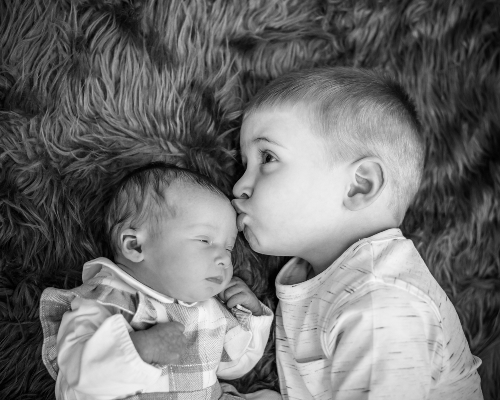 Kiss for baby sister, baby portraits Carlisle