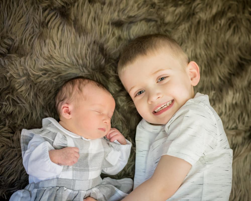 Baby and brother, newborn portraits Carlisle