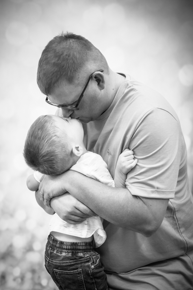 Dad and son kisses, family photographer Cockermouth