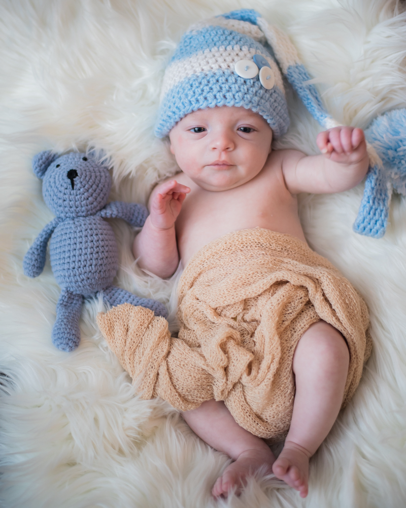 Toby and his little teddy, newborn photographer Cockermouth