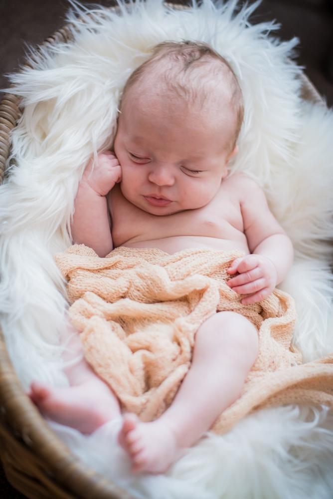 Noah in a basket, newborn photographer Cockermouth