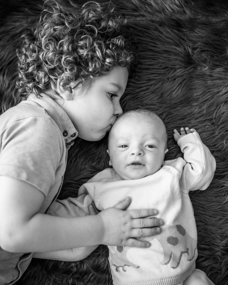 Noah and little brother Toby, newborn portraits Sheffield