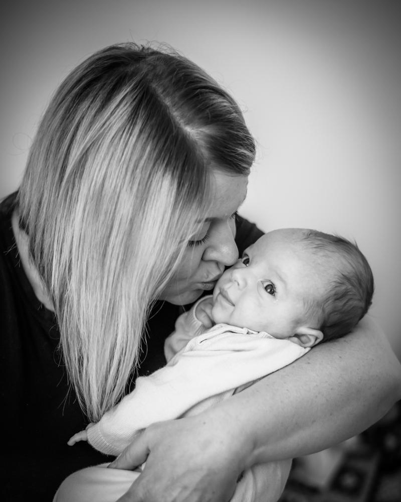 Kisses from Mum, baby photographer Carlisle