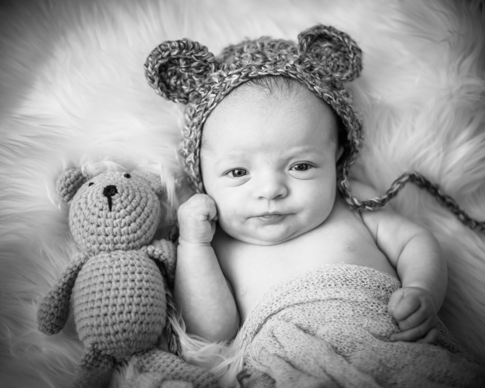 Noah and teddy, newborn photographer Cockermouth